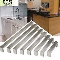 "1/2"" Stainless Steel Square Corner Bar Kitchen Cabinet Door Handles Pull Knobs B"