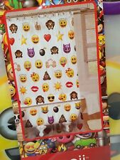 Emoji Shower Curtain Plastic Vinyl 70 X 72