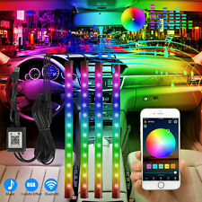 4x 48led Rgb Car Interior Usb Atmosphere Light Strip Music Bluetooth App Control