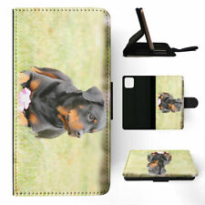 APPLE iPHONE FLIP LEATHER CASE WALLET COVER|ROTTWEILER DOG 4