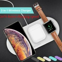 3 in 1 Airpower Wireless Charger Pad Qi Charger Holder for Apple Airpod 2