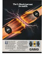 1988 - CASIO. G-SHOCK WATCH. DW-5600C.500C. - VINTAGE PRINT AD