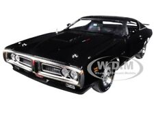 1971 DODGE CHARGER R/T BLACK TX9 HARDTOP W/SUNROOF MCACN 1/18 AUTOWORLD AMM1107