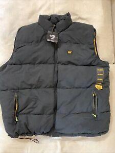 Caterpillar Men's Big-Tall Arctic Zone Vest, Black, 4XLarge/Tall black yellow