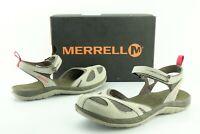 Merrell Q2 Siren Wrap Women's US 8 Aluminum Leather Mesh Waterproof Sandals 398D