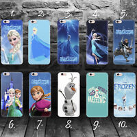 FROZEN DISNEY CARTOON ELSA ANNA iPhone 4 4s 5 5c 5s SE 6 6s 7 8 plus case cover