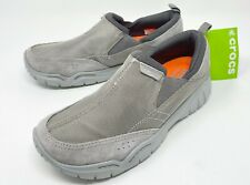 Crocs Swiftwater Edge Moc Slip-On Shoe Mens size 9 Charcoal/Light Gray NEW