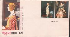 BHUTAN, 1970. First Day Cover Paintings 109A, 109C