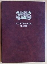 DANSCO AUSTRALIA FLORIN PUSH IN COIN ALBUM 1910-1963