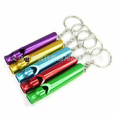 Hot 2pcs Mini Aluminium Emergency Safety Whistle Keychain Lifesaving Whistle