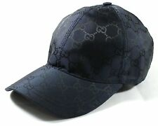 Auth GUCCI Men's Nylon GG Guccissima Web Stripe Baseball Cap ~ Navy Sz L ~ NEW