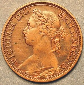 1882  Great Britain Farthing Vicotria Queen KM# 747.2
