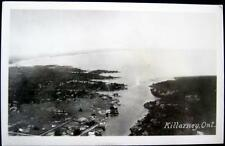 CANADA~1940's KILLARNEY ONT. ~ Aerial View ~ Real Photo PC  RPPC
