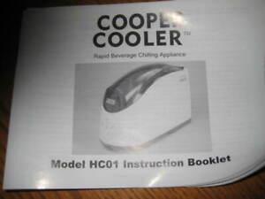 Cooper Cooler HC-01 Rapid Beverage & Wine Chiller Silver Tested Manual Included