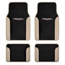 Car Floor Mats Carpet Tattoo Design 2 Tone Color Liner 4 Piece Beige Black