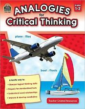 Analogies for Critical Thinking Grd 1-2 by Ruth Foster (2011, Paperback, New...