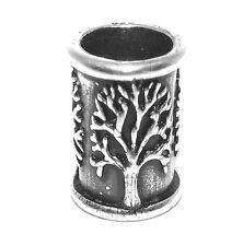 Sterling Silver Tree of Life Viking / Celtic Beard Bead Ring - dreadlock hair