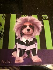 Beetlejuice Dog Pet Costume Funny Rubies Pet Shop  Outfit Halloween NEW Medium