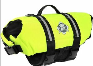 Paws Aboard Dog Life Jacket Vest for Swimming and Boating Neon Yellow XL