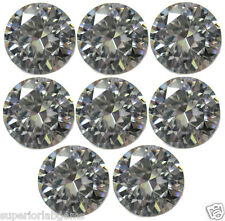 8, 2.50 mm 0.40ct  Round Cut Lab Diamond, Sim Diamond WITH LIFETIME WARRANTY