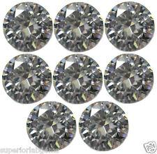 8, 2.50 mm 0.40ct  Round Cut Lab Diamond, Sim Diamond WITH LIFETIME WARRANTY