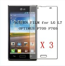 3x CLEAR Screen Protector Guard Film for LG P700 OPTIMUS L7 P705 ,NEW