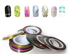 10 Rolls Nail Art Lace Tape Line Strips Nails Decoration Stickers