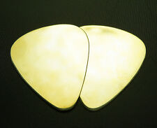 BRASS  PICKS (2) - Solid Brass Guitar Pick,Acoustic Electric,Mandolin