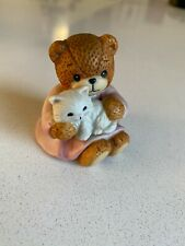 Lucy & Me Bear With Cat on Lap Lucy Rigg Enesco 1985