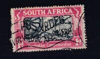 South Africa 1938 1d Voortrekker Third Nut Flaw SG80a VFU J3977