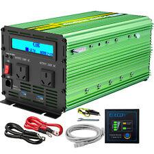 EDECOA 2000w 4000w 12v - 240v Power Inverter Camping Boat Caravan Cables LCD USB