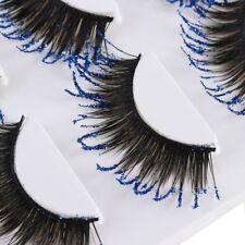 Stage Use Blue Glitter False Eyelashes 3 Pairs Thick Long Lashes Best~~-