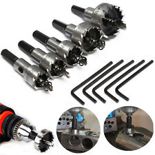 5pcs 16-30mm Hole Saw Cutter Drill Bit Set HSS Sheet Metal Reamer with Wrench US