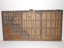 Vintage Printers Wooden Type Drawer Letterpress California Job Case Wood Tray