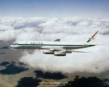 """UNITED AIRLINES DOUGLAS DC-8-21 DC8 20"""" x 16"""" POSTER PRINT PICTURE PHOTO IMAGE x"""