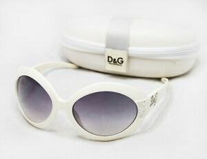 DOLCE & GABBANA Dg8042B Sunglasses butterfly wrap white grey straz rhinestones