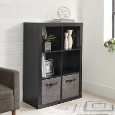 6 Cube Storage Organizer Home Office Open Shelves Bookcase Shelf Box Solid Black