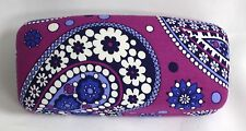 Vera Bradley Hard Large Eyeglass Sunglass Boysenberry Paisley glasses case
