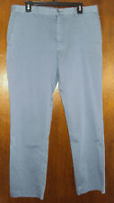 Cremieux Mens New $70 Flat Front Chino Pants 38 38w 38x32 Faded Navy Blue NWT