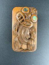 Fine antique Maori carved Tiki box - Early 20th century