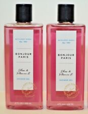 2 Bath & Body Works Bonjour Paris Shower Gel 10 Fl Oz Shea & Vitamin E