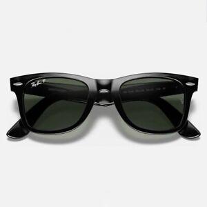 Ray-Ban RB2140 Original Wayfarer Polarized Sunglasses Black 901/58 50-22-150