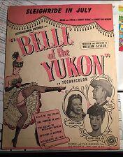 Sheet Music - Sleigh Ride In July - Johnny Burke & Jimmy Van Heusen 1944