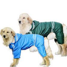 New Waterproof Dog Pet Large Rain Coat Jacket Reflective Hoodie Raincoat Costume