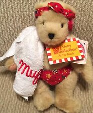 Muffy Vanderbear 1989 Teddy Bear At The Beach Bathing Suit Bandana & Towel Nabco