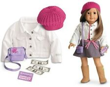"NEW American Girl 18"" Doll Clothes TRUE SPIRIT ACCESSORIES Hat Purse Money Coat"