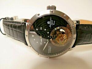 Aeromatic 1912 Tourbillon Watch A1266 Regulator Black Dial 39mm