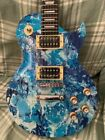 Custom Shop Swirl Les Paul Sky Blue Electric Guitar And Gig Bag Made In The UK for sale
