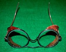 Vintage 20's 30's Wilson Goggles Motorcycle Aviator Safety Glasses.