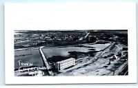 *Churchill Manitoba Canada Aerial Town View RPPC Vintage Real Photo Postcard C79